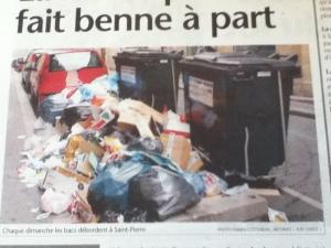 poubelle déborde
