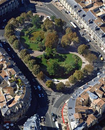 Bordeaux- Place Gambetta vue de haut