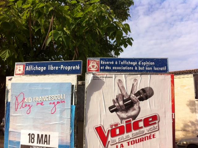 panneaux affichage libre Bordeaux
