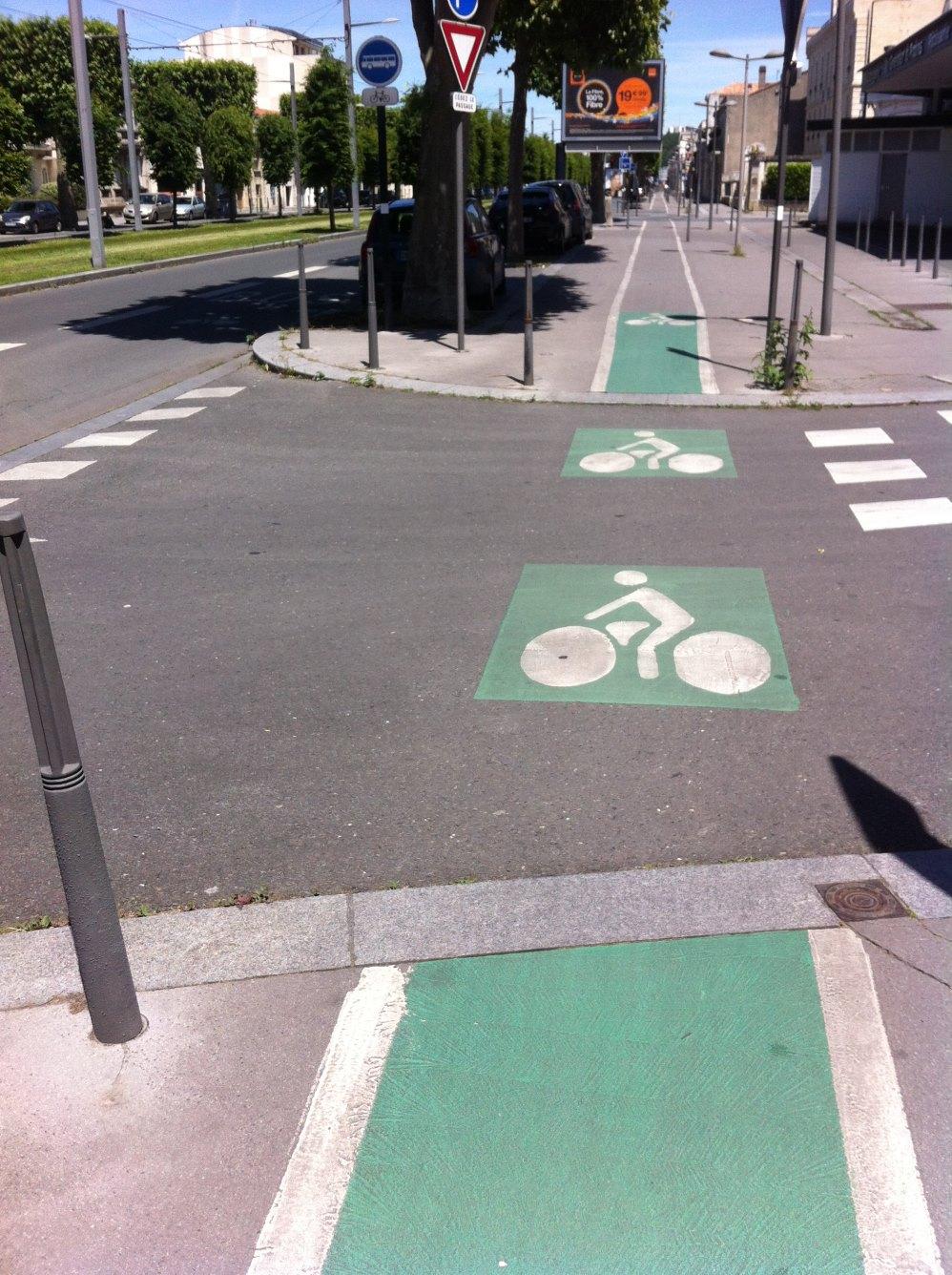 piste vélo Bordeaux thiers